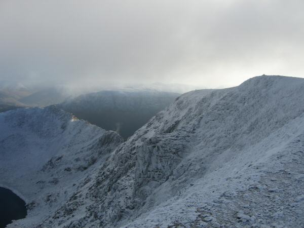 Striding Edge and Helvellyn's summit
