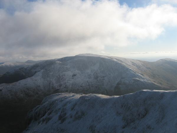 Fairfield from Dollywaggon Pike's summit