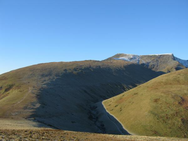 Scales Fell leading onto Blencathra with White Horse Bent on the right