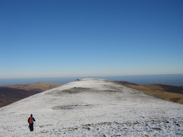 Heading for Atkinson Pike, Blencathra's northern most top