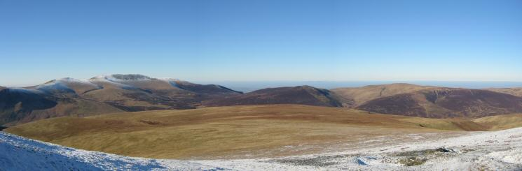 The flat topped Mungrisdale Common from below Blue Screes