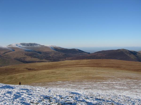 Mungrisdale Common with Skiddaw on the left and Great Calva on the right