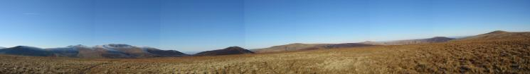 180 North Westerly panorama from Mungrisdale Common's summit