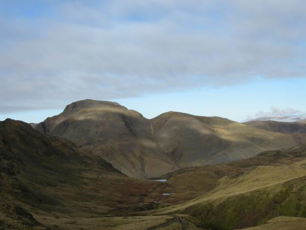 Great Gable and Green Gable from the path to Esk Hause