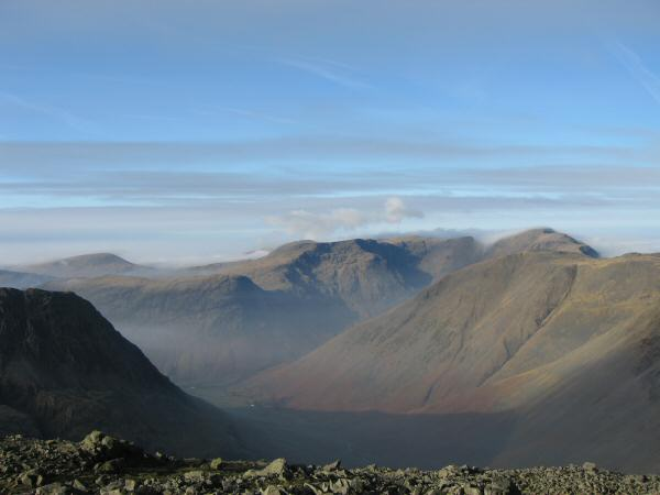 Wasdale Head, Red Pike and Pillar from Great End