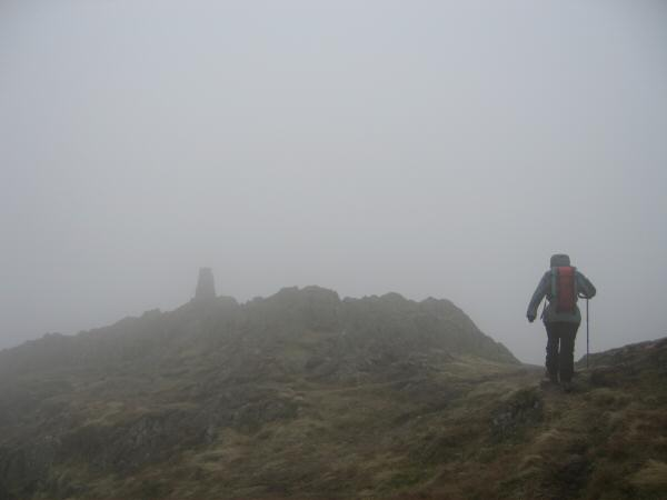 Approaching Place Fell's summit