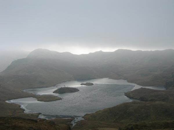 Angle Tarn from the southern pike of Angletarn Pikes