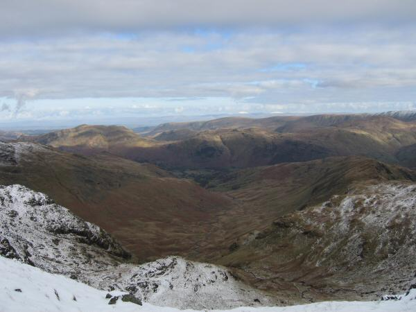Looking down into Deepdale