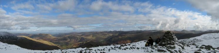 Easterly panorama from Hart Crag's summit
