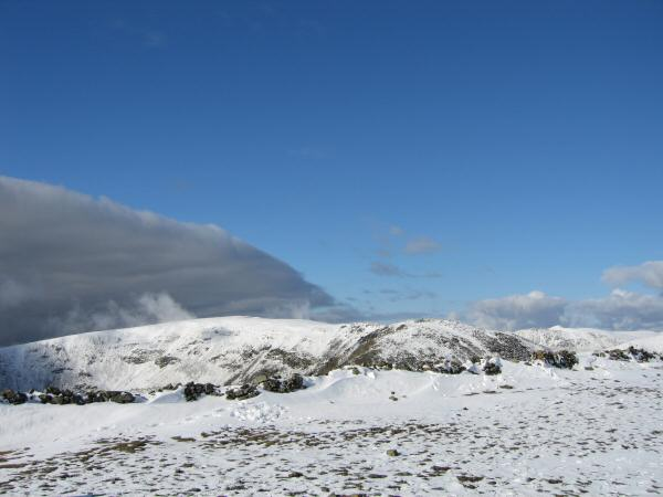 Looking back to Fairfield from Dove Crag's summit