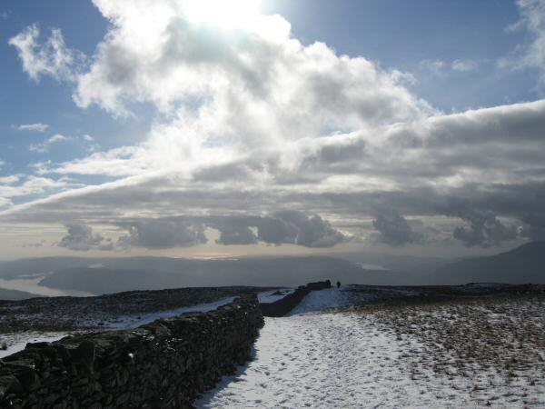 Just follow the wall to High Pike