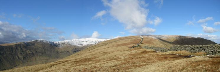 Great Rigg, Fairfield and Dove Crag from High Pike's summit