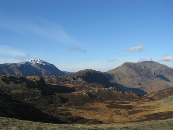 Looking across Dubs Bottom to Pillar, Haystacks, High Crag and High Stile