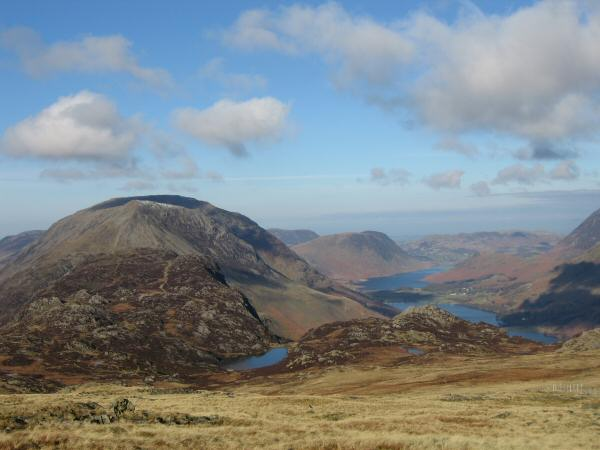 Haystacks and the High Stile ridge, Blackbeck Tarn, Crummock Water and Buttermere