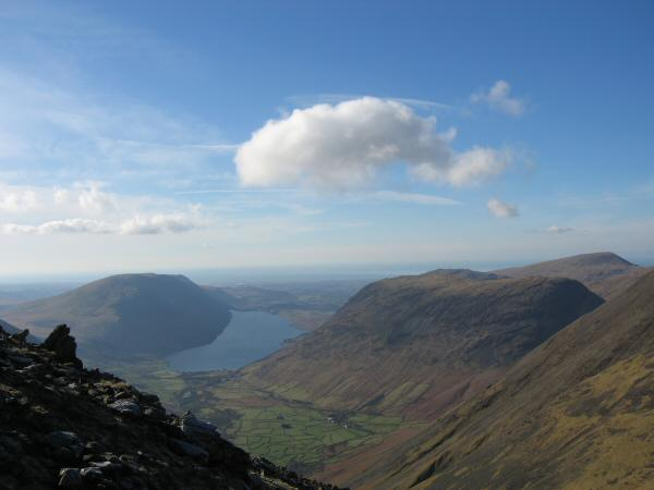Wasdale from our ascent of Great Gable from Beck Head