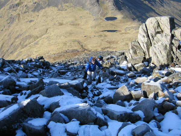 The steep climb up from Beck Head to Great Gable's summit