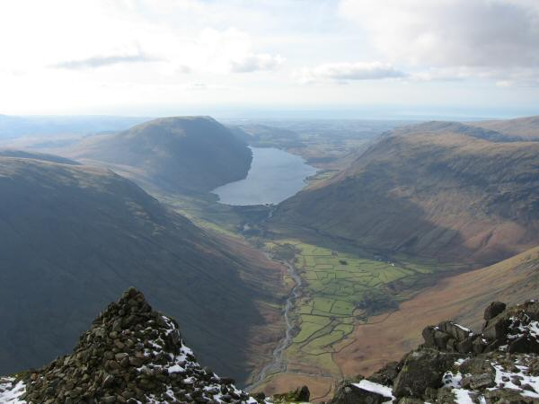 Wasdale from the Westmorland Cairn, Great Gable