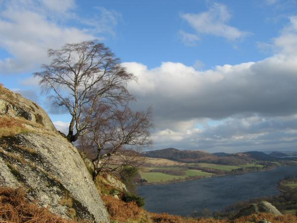 Ullswater from our ascent of Low Birk Fell