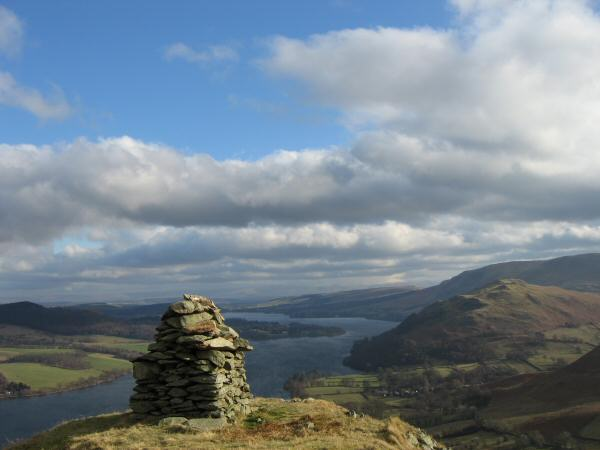 Ullswater and Hallin Fell from Low Birk Fell's summit cairn