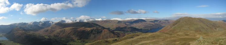 Westerly panorama from Angletarn Pikes' northern summit