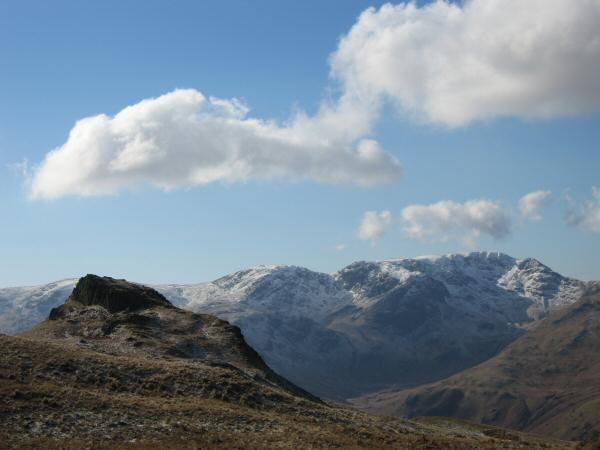 Angletarn Pikes' northern top, Hart Crag and Fairfield