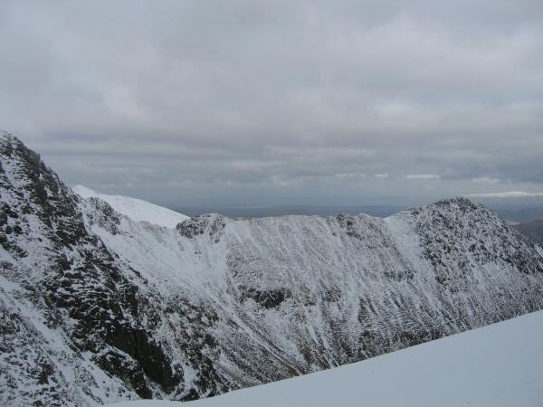 Striding Edge with Cross Fell in the distance on the far right