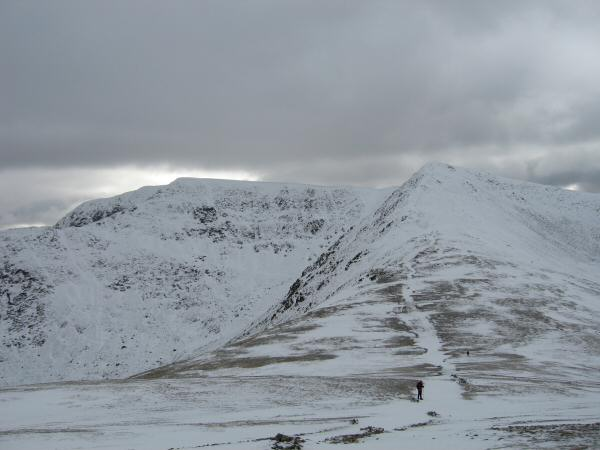 Looking back to Helvellyn and Lower Man