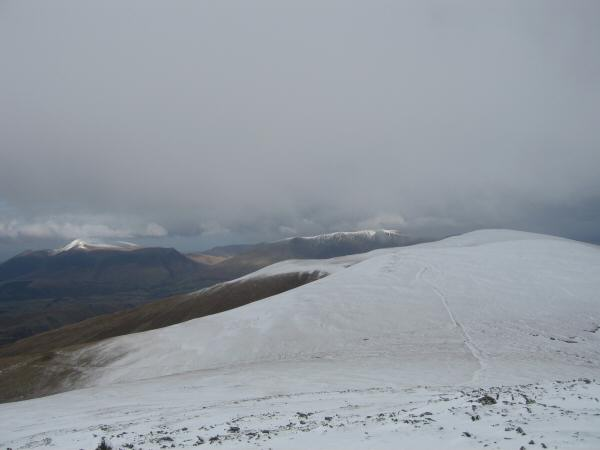 Stybarrow Dodd with Skiddaw and Blencathra in the distance