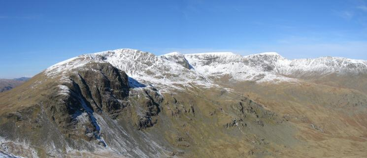 Dollwaggon Pike, High Crag, Nethermost Pike and Helvellyn