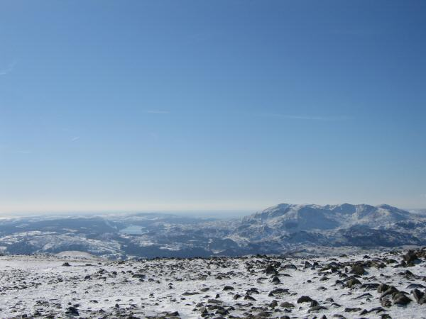 Coniston Water and the Coniston Fells from Fairfield's summit