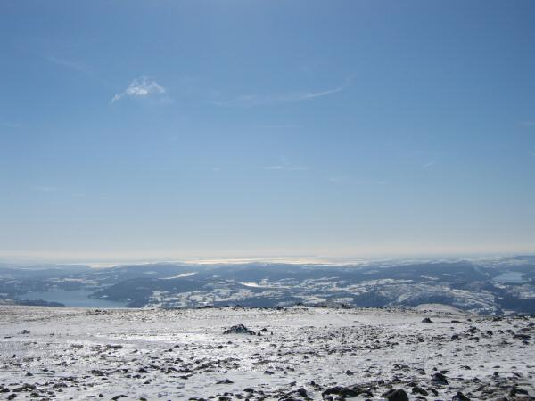 The view south from Fairfield's summit