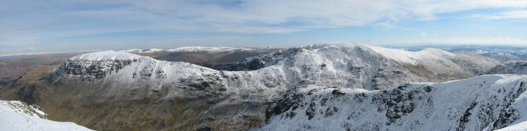Saint Sunday Crag and Fairfield from Dollywaggon Pike's summit