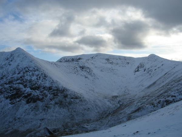 Brown Cove - Catstycam, Helvellyn and Lower Man