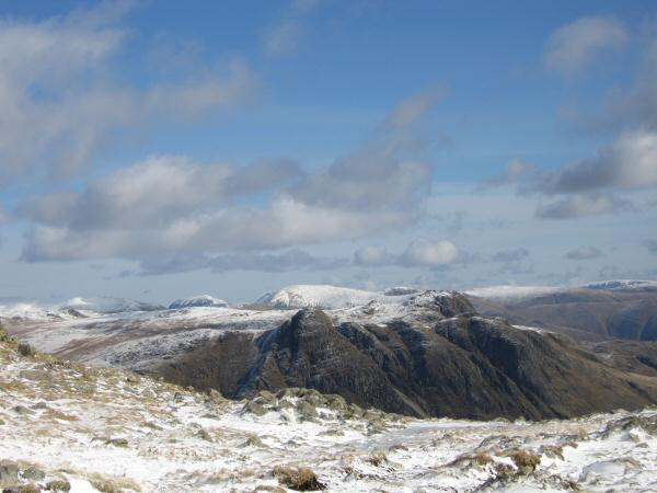 The Langdale Pikes from Three Tarns