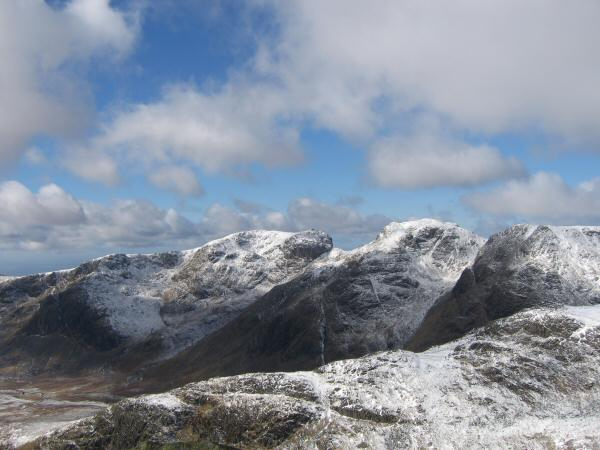 Scafell and Scafell Pike from Bowfell's summit
