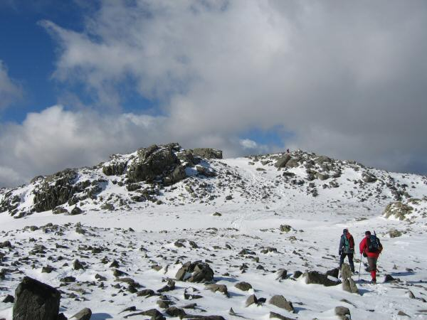 Approaching Esk Pike's summit