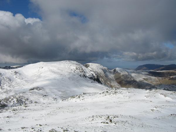 Great End, Great Gable and Green Gable from Esk Pike