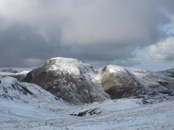 Great Gable and Green Gable from Lower Esk Hause