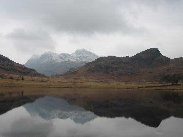 The Langdale Pikes and Side Pike from Blea Tarn