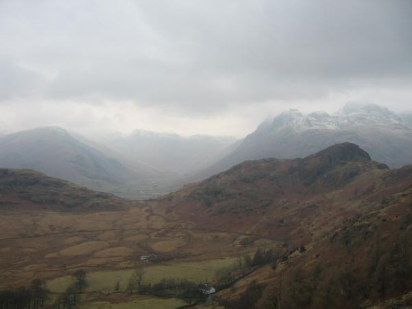 Side Pike and Great Langdale from my ascent