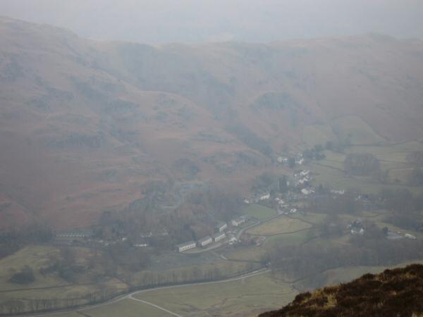 Looking down on Chapel Stile from Lingmoor Fell's summit
