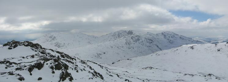 The Coniston Fells from the summit