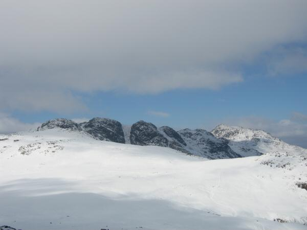 Crinkle Crags and Bowfell from Cold Pike