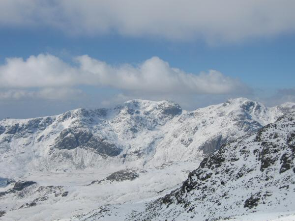 The Scafells from the southern most Crinkle