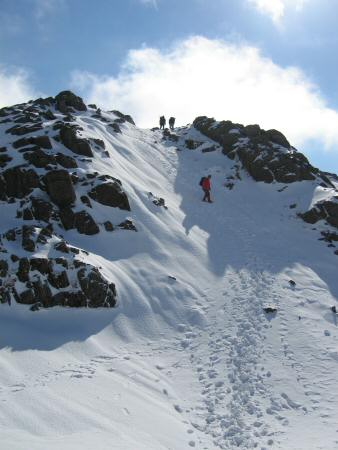 Descending to Three Tarns