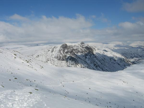 The Langdale Pikes from the top of The Band