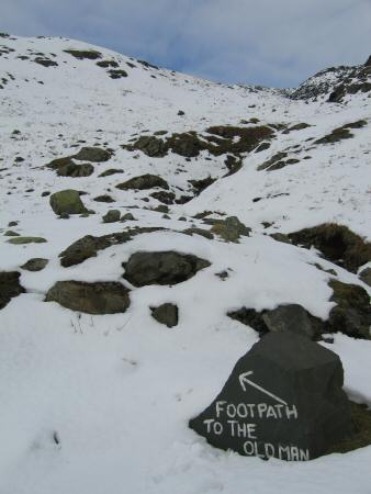 Start of the footpath up the Old Man
