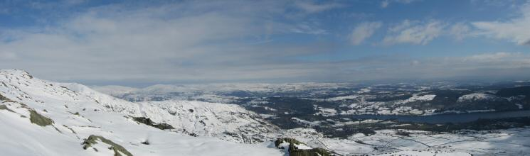 An easterly panorama from the ascent