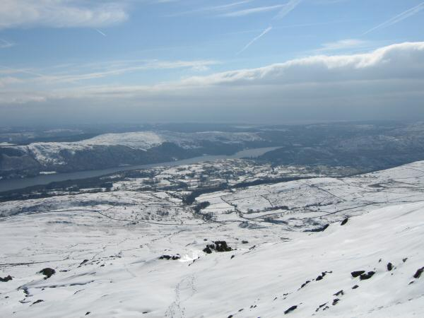 The view south from the ascent