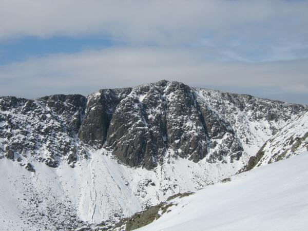 Dow Crag from Coniston Old Man's south ridge